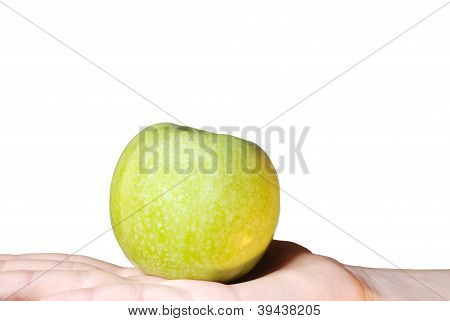 Hand Holds An Apple