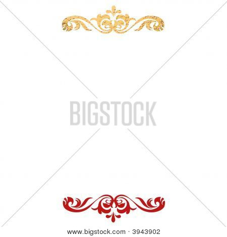 Red Gold Ornamental Background