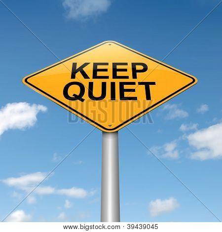 Keep Quiet Concept.