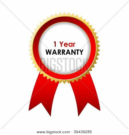 1 Year Warranty Label With Special Design