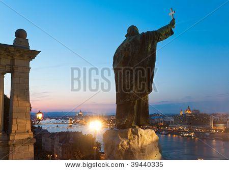 Visão noturna de Budapeste