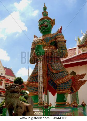Thotsakan, Temple Guardian Of Wat Arunratchawararam