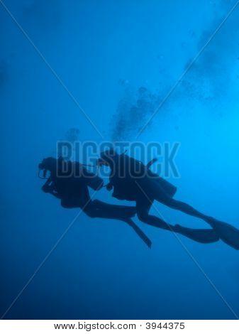 Scuba Divers Silhouette
