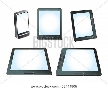 Set Of Vector Tablet Computers Ans Mobile Phones