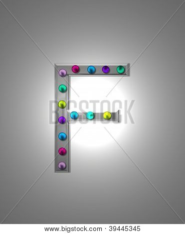 Alphabet Metal Marquee Ff