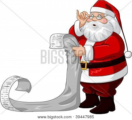Santa Claus Reads From Christmas List