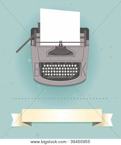 Typewriter In Retro Style