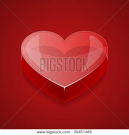 Glass Vector heart