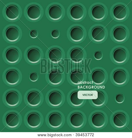 green background with eyelets