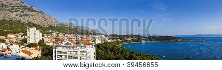 Panorama Of Makarska At Croatia