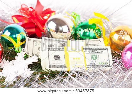 Dollars on christmas