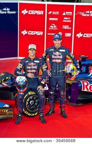 Presentation Of The Toro Rosso Str7, 2012