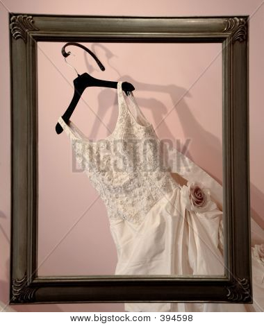 Wedding Dress And Frame