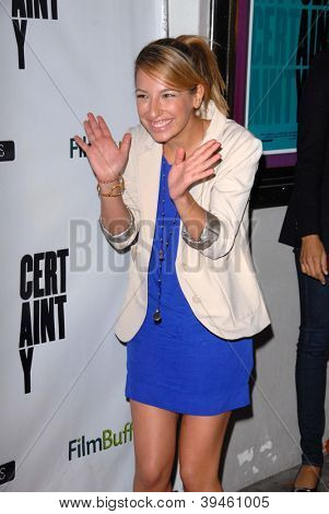 LOS ANGELES - NOV 27:  Vanessa Lengies arrives at the 'Certainty' Los Angeles premiere at Laemmle Music Hall on November 27, 2012 in Beverly Hills, CA