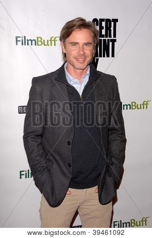 LOS ANGELES - NOV 27:  Sam Trammell arrives at the 'Certainty' Los Angeles premiere at Laemmle Music Hall on November 27, 2012 in Beverly Hills, CA
