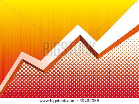 Vector yellow Graph