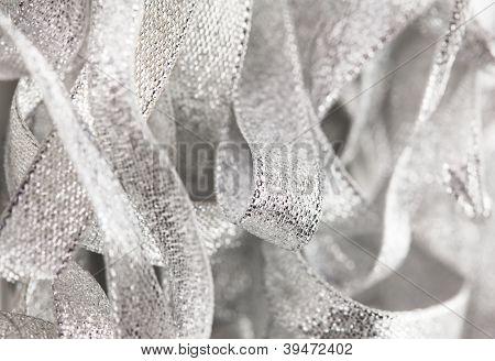 frame full pf silver ribbons.