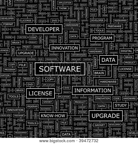 SOFTWARE. Seamless vector pattern.