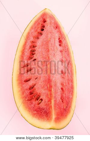 Watermelon piece isolated on white background