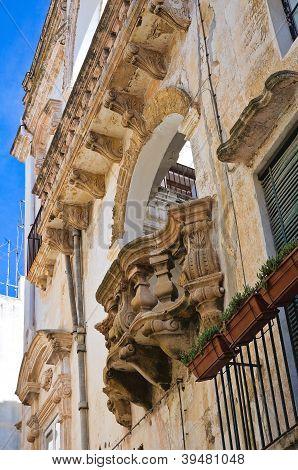 Fontana - Doxi palácio. Gallipoli. Puglia. Itália.