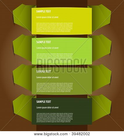 Presentation template with four text boxes
