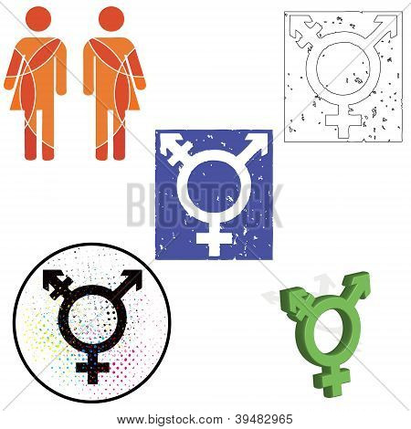A Set Of Transgender Icons