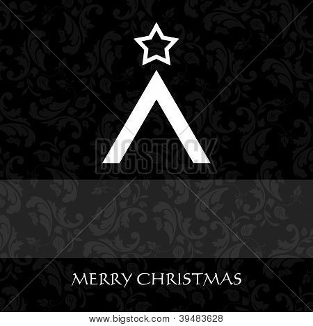 Elegant Christmas card with a symbolic tree