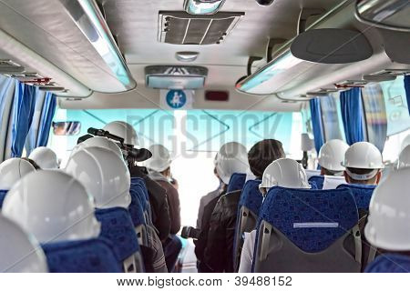 The image of passenger compartment of a bus