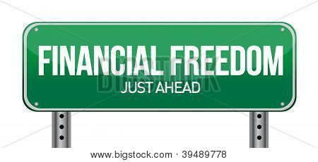 Financial Freedom Street Sign