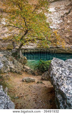 Source in Fontaine-de-Vaucluse, France