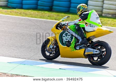 Simone Corsi Pilot Of Moto2  Of The Motogp