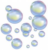 Vector soap bubbles