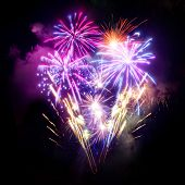picture of firework display  - A large Fireworks Display event - JPG