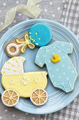 picture of babygro  - Baby shower cookies - JPG