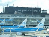 Plane Being Loaded At Schiphol Airport