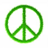 stock photo of woodstock  - Peace sign isolated isolated on white background - JPG