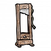 stock photo of guillotine  - guillotine cartoon - JPG