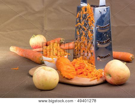 Grated Carrot.