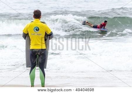 Gastao Entrudo Watching Joao Barciela's Wave
