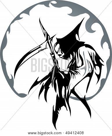 A death angel for tattoo design
