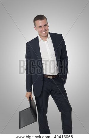 Businessman And Laptop