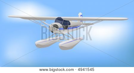 Small White Light Aircraft