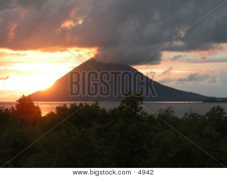 Sunset At Manado Tua