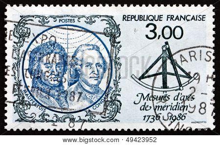 Postage Stamp France 1986 Pierre-louis Moreau De Maupertuis