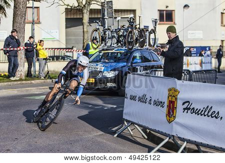 The Cyclist Kelderman Wilco- Paris Nice 2013 Prologue In Houilles
