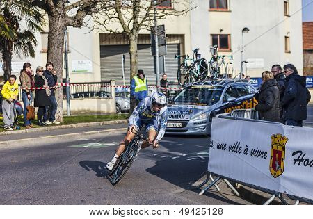 The Cyclist Lindeman Bert Jan- Paris Nice 2013 Prologue In Houilles