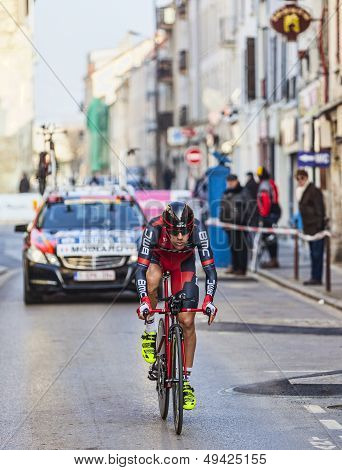 The Cyclist Moinard Ama�l- Paris Nice 2013 Prologue In Houilles