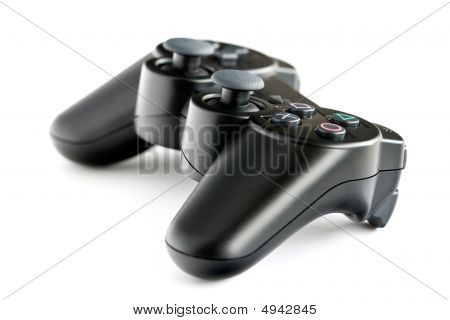 Black Wireless Console Game Controller