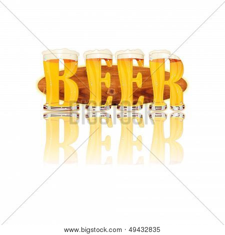 BEER ALPHABET letters