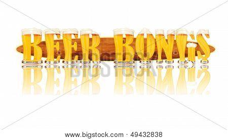 BEER ALPHABET letters BEER BONGS